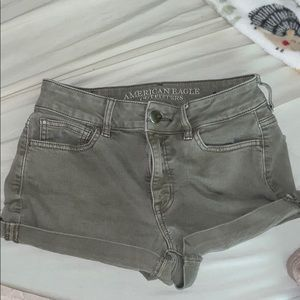Olive green American eagle shorts